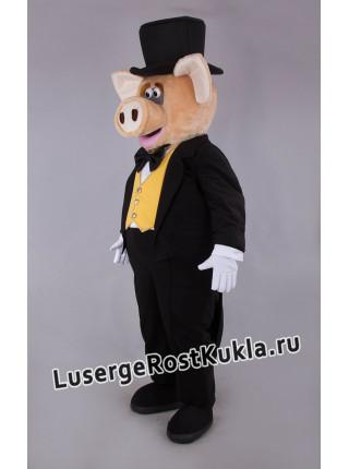 """Ростовая кукла """"Свинья Джентельмен"""""""