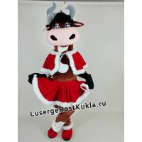 """Ростовая кукла """"Корова Ромашка новогодняя"""""""