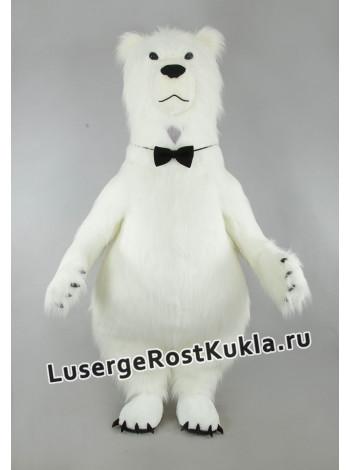 """Ростовая кукла """"Медведь Джентельмен (белый)"""""""