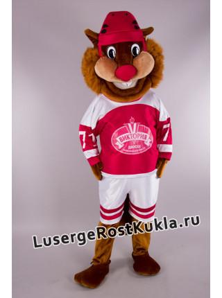 "Ростовая кукла ""Бобр-хоккеист"""