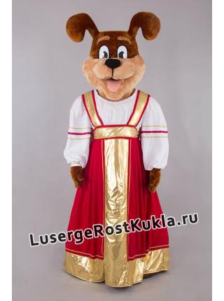"""Ростовая кукла """"Собака Ириска нарядная"""""""