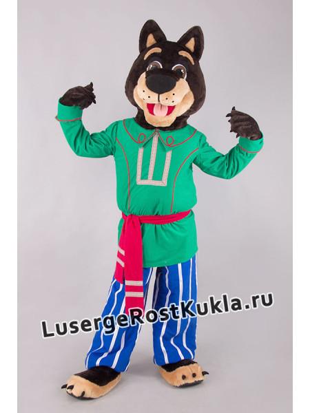 """Ростовая кукла """"Собака Рекс в зелёном"""""""