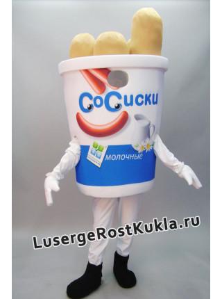 """Ростовая кукла """"Стакан сосисок"""""""