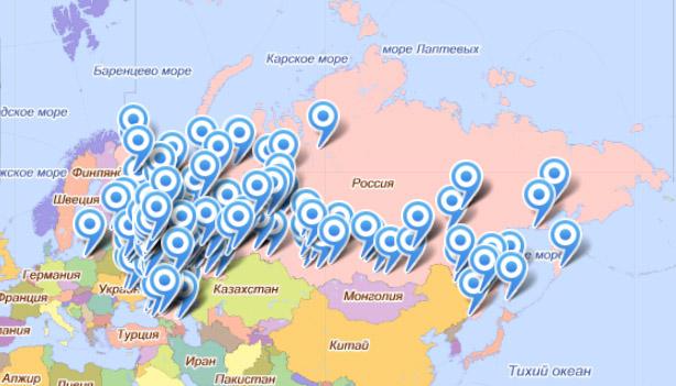 Карта наших клиентов