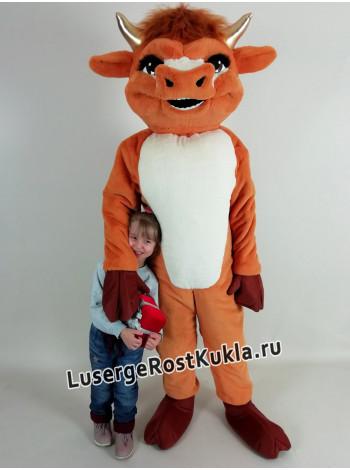 """Ростовая кукла """"Бык Вальенте рыжие"""""""