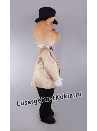 """Ростовая кукла """"Поросенок в светлом пиджаке"""""""